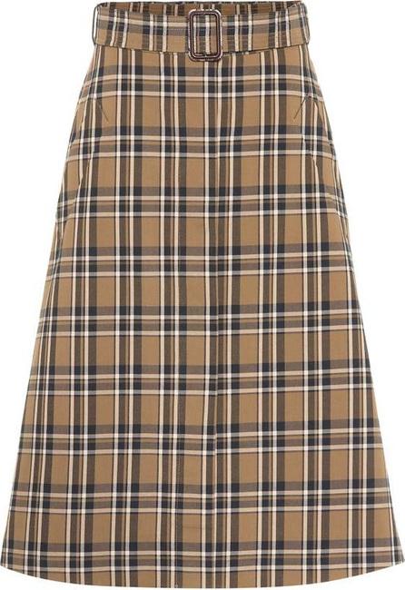 Max Mara Jack plaid cotton skirt