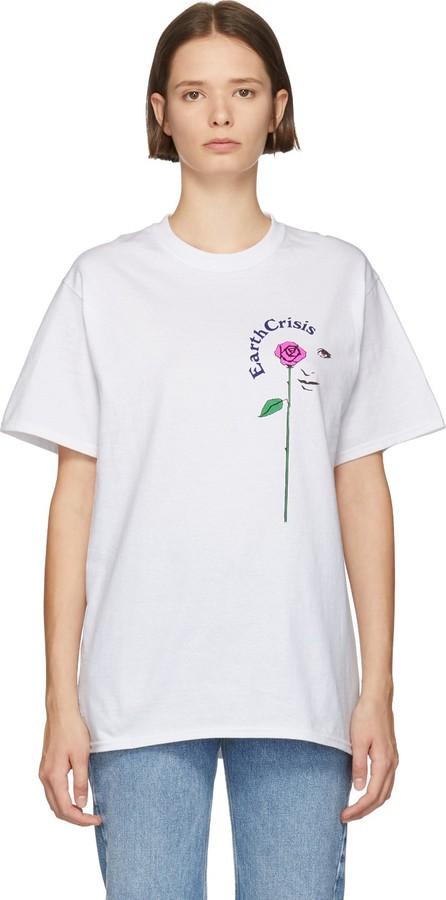 Noah NYC White 'Earth Crisis' T-Shirt