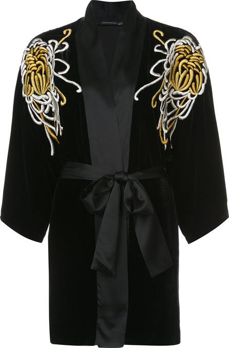 Josie by Natori Embroidered belted night-gown