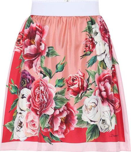 Dolce & Gabbana Floral silk miniskirt