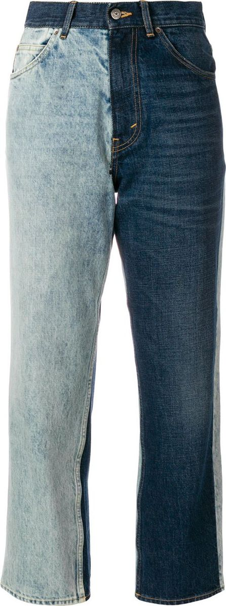 Golden Goose Deluxe Brand cropped split colour jeans