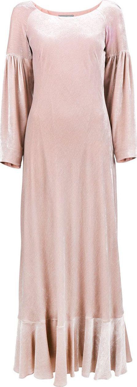 Alberta Ferretti velvet balloon sleeve maxi dress