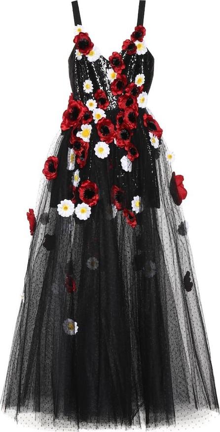 ELIE SAAB Floral-embellished tulle gown