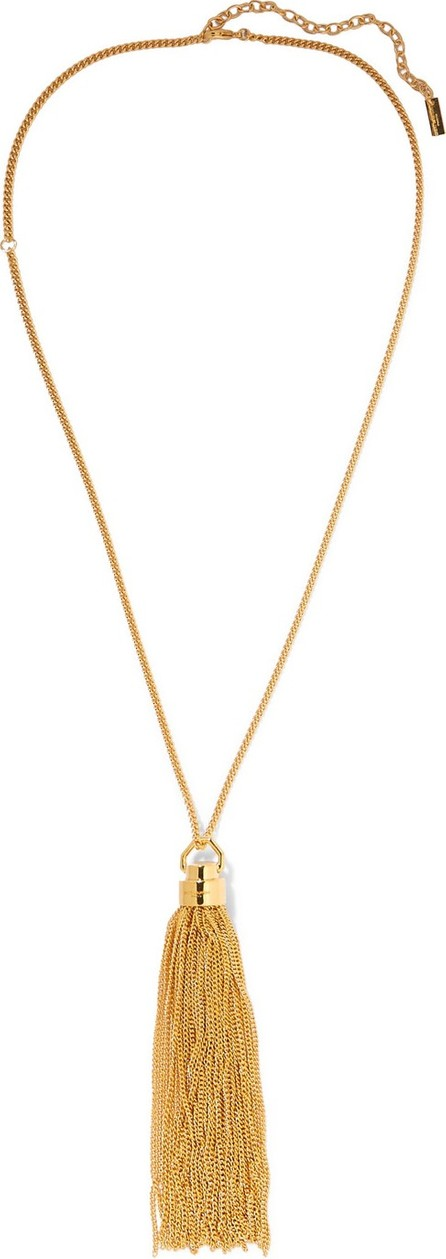 Saint Laurent Tasseled gold-tone necklace