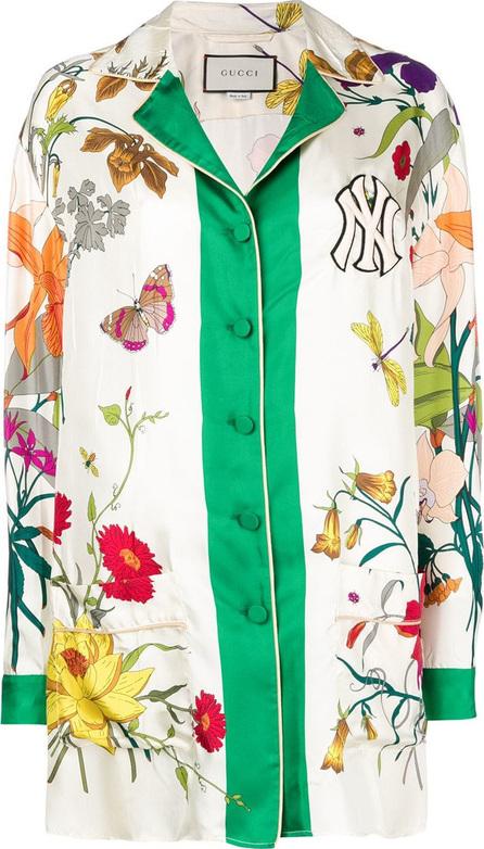 Gucci NY Yankees floral print shirt