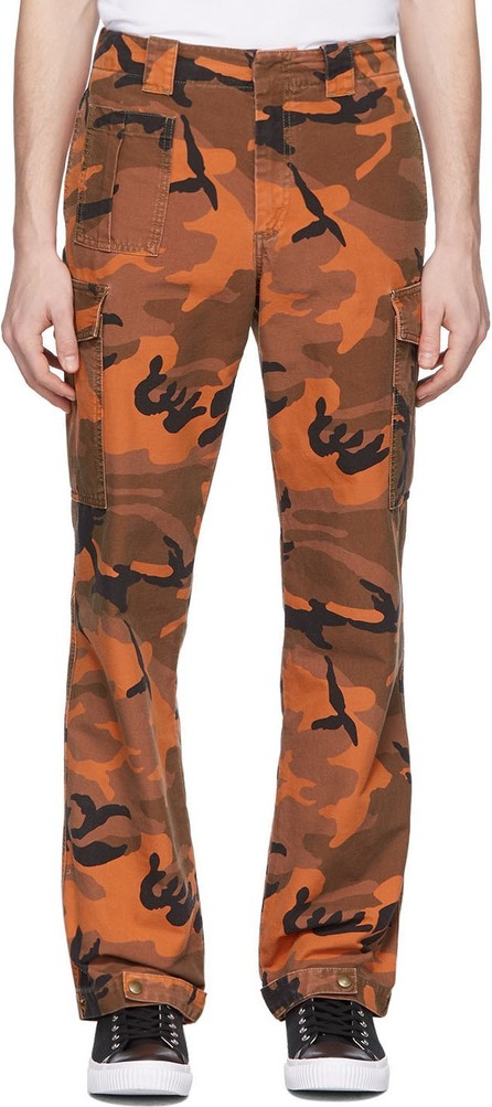 McQ - Alexander McQueen Orange Camo Alex Cargo Pants