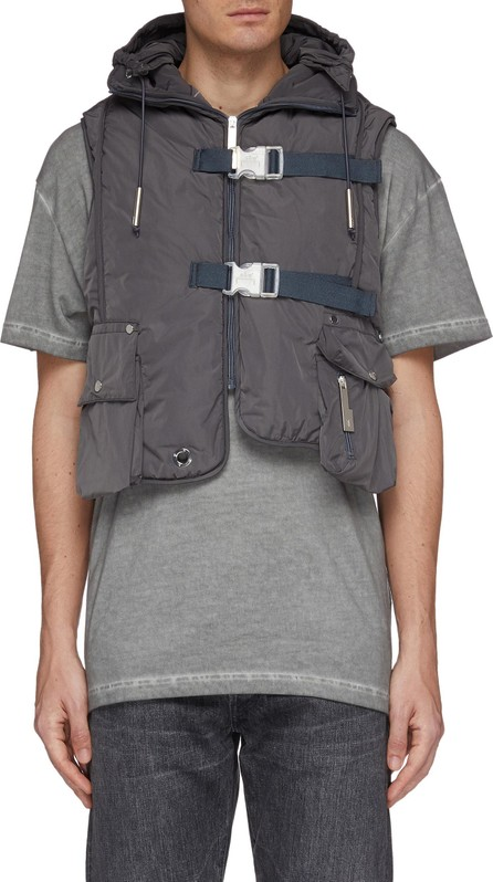 A-Cold-Wall* PVC back panel hooded cropped padded vest