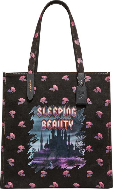 COACH 1941 Disney Dark Fairy Tale Sleeping Beauty Tote Bag