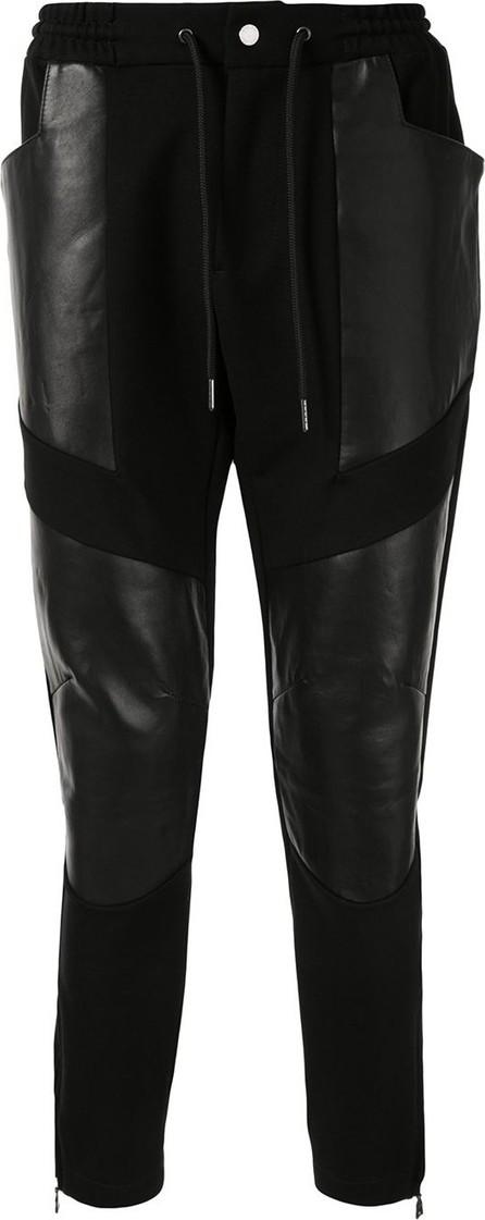 Loveless Textured panel slim-fit track pants