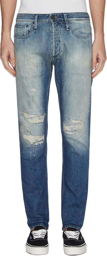 Denham 'Razor' rip-and-repair slim fit jeans