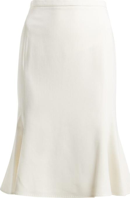 Max Mara High-rise wool-stretch skirt