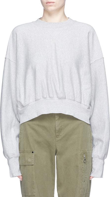 Bassike Lace-up back organic cotton sweatshirt