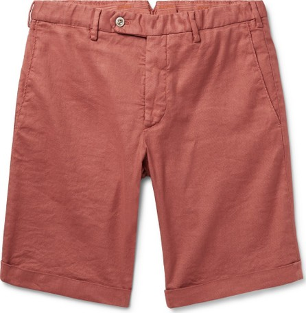 Zanella Chase Stretch Linen and Cotton-Blend Shorts