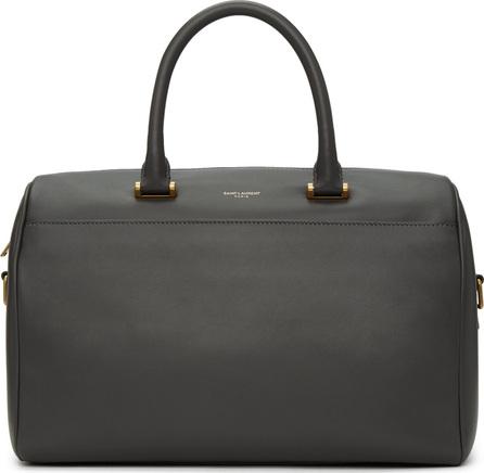 Saint Laurent Grey Soft Duffle 6 Bag