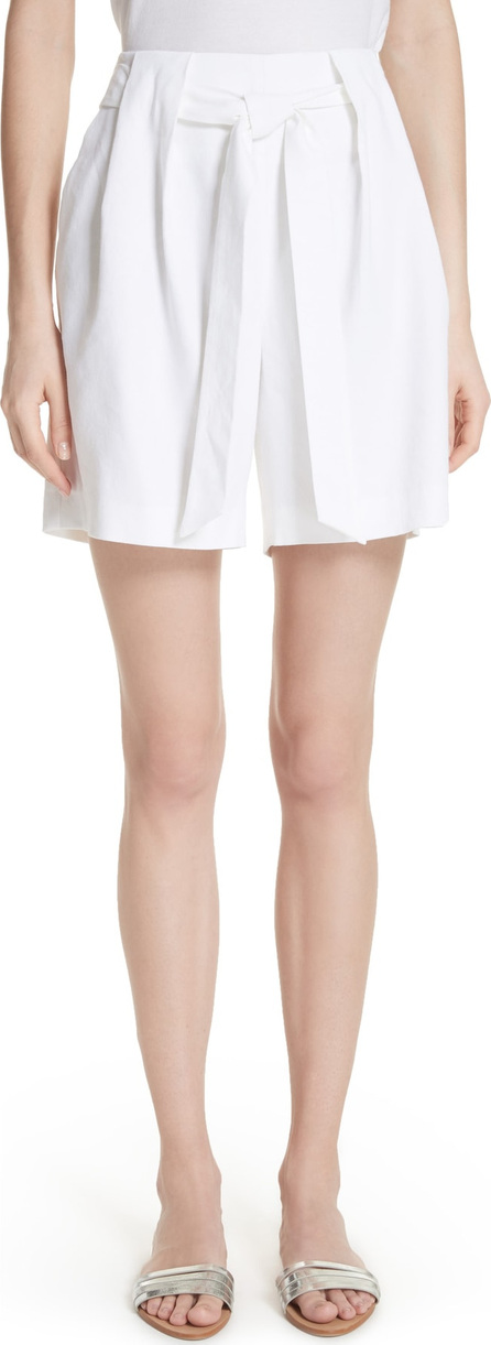 St. John Stretch Twill Tie Front Shorts