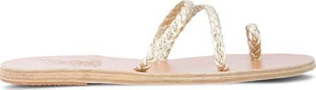 Ancient Greek Sandals Katia metallic flat sandals