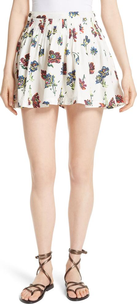 Ulla Johnson Alita Floral Print Shorts