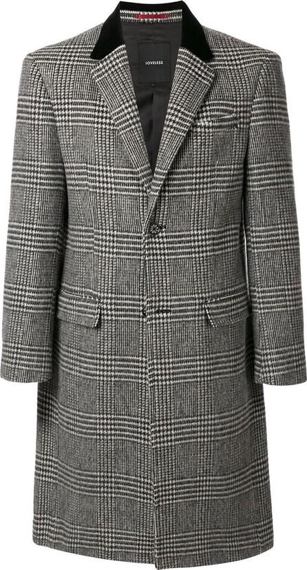 Loveless Single-breasted checked  coat