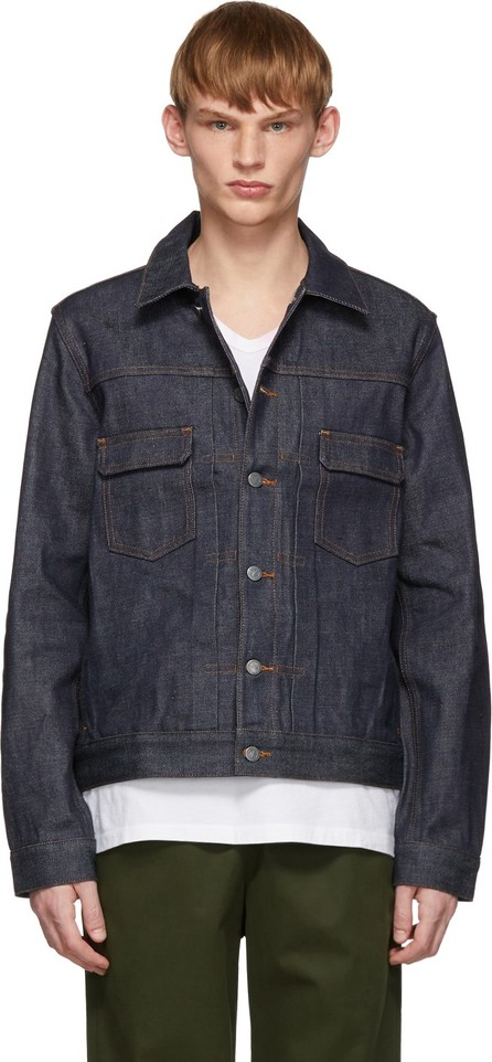 A.P.C. Indigo Raw Denim Work Jacket