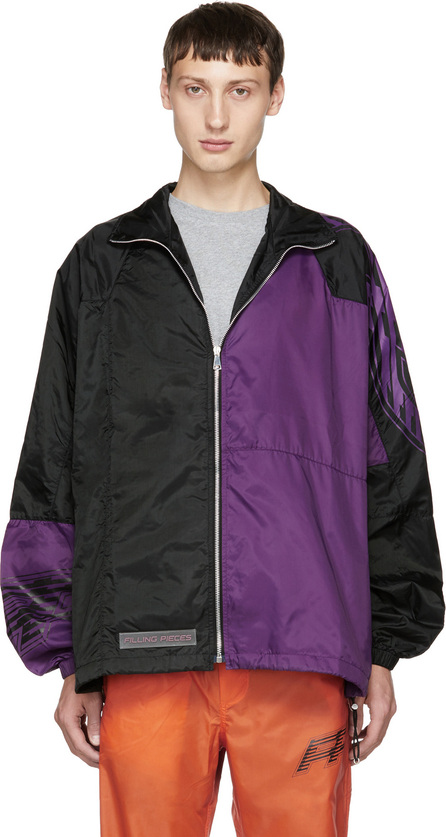 Filling Pieces Black & Purple Panelled Jacket