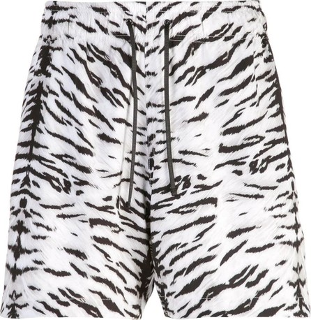 Amiri Tiger print swim trunks