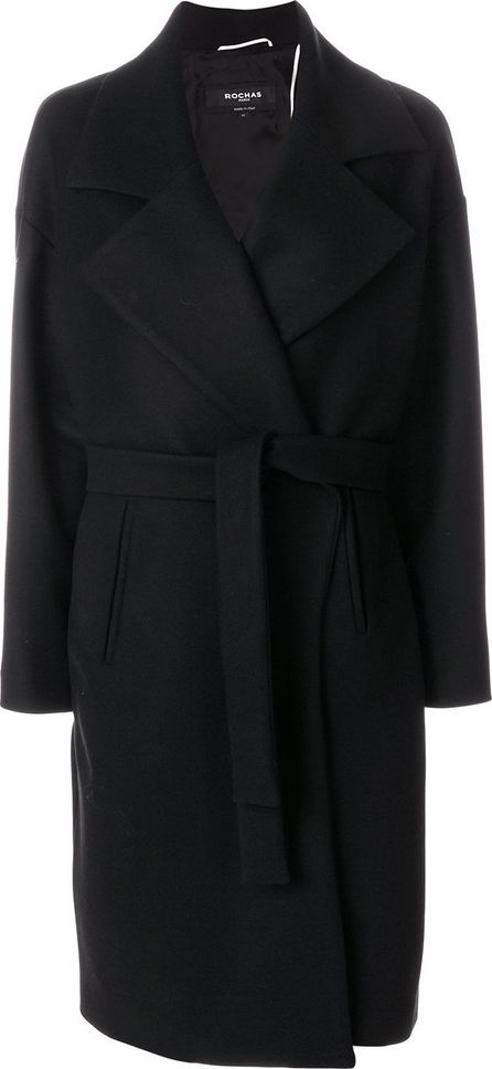 ROCHAS belted fitted coat