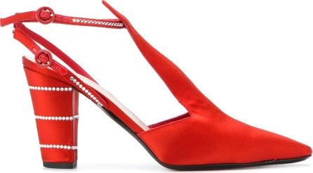 Nina Ricci Crystal embellished T-bar pumps