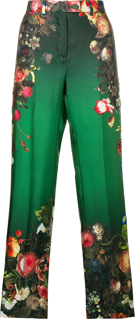 F.R.S For Restless Sleepers Floral-print silk trousers