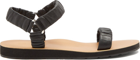 THE ROW Egon ruched leather sandals