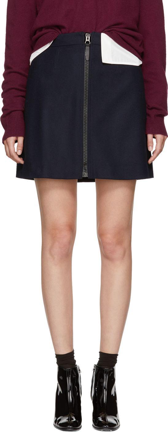 Acne Studios - Navy Suraya Miniskirt