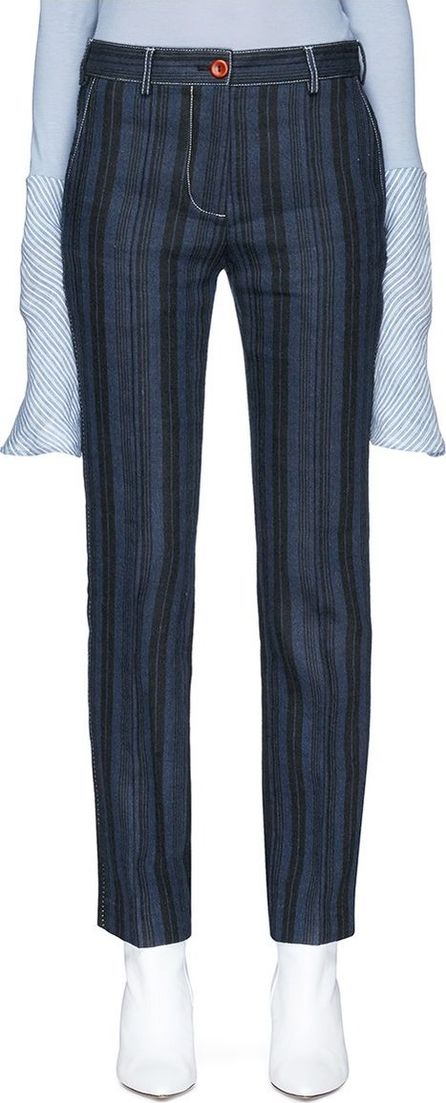 Acne Studios 'Teddy Rustic' stripe wool blend twill pants