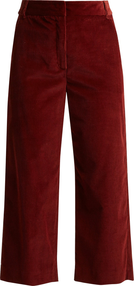 Weekend Max Mara Cropped cotton-corduroy trousers