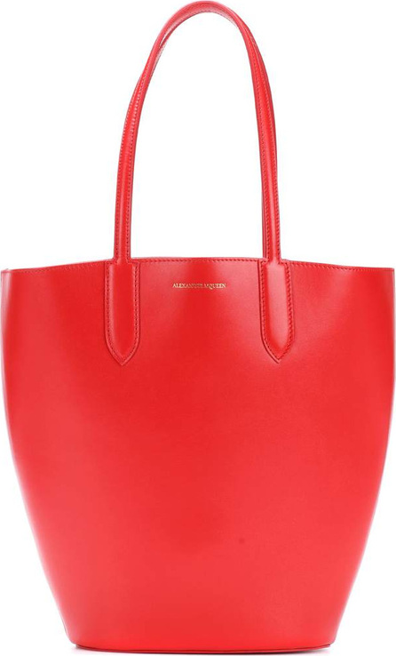Alexander McQueen Small Basket leather shopper