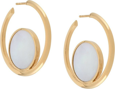 Astley Clarke Stilla Slice Mother of Pearl hoop earrings