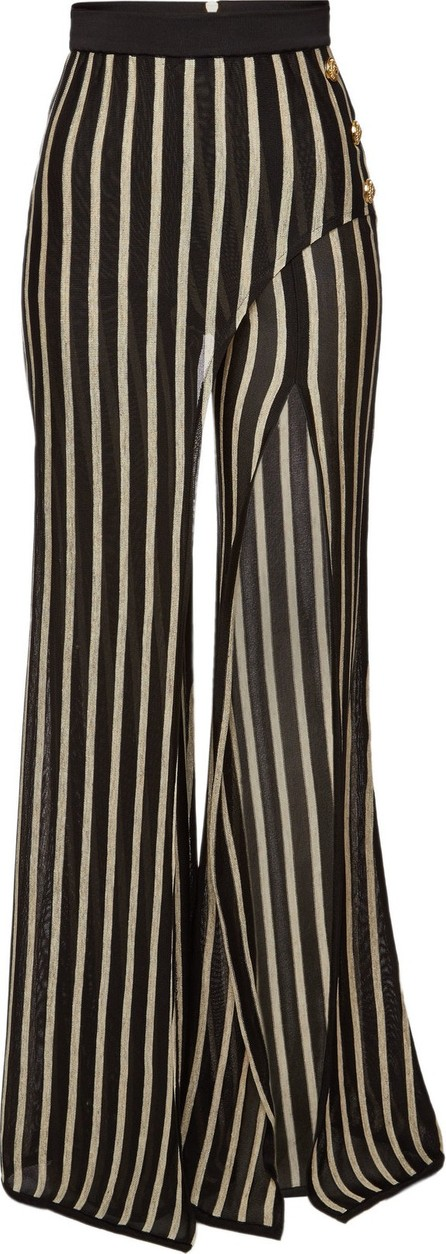 Balmain Striped Wide Leg Pants
