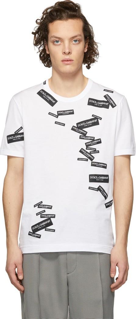 Dolce & Gabbana White All Over Logo T-Shirt