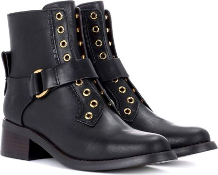 See By Chloé Embellished leather ankle boots