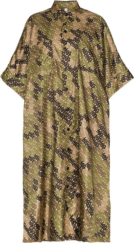 Burberry London England Printed oversized scarf poncho