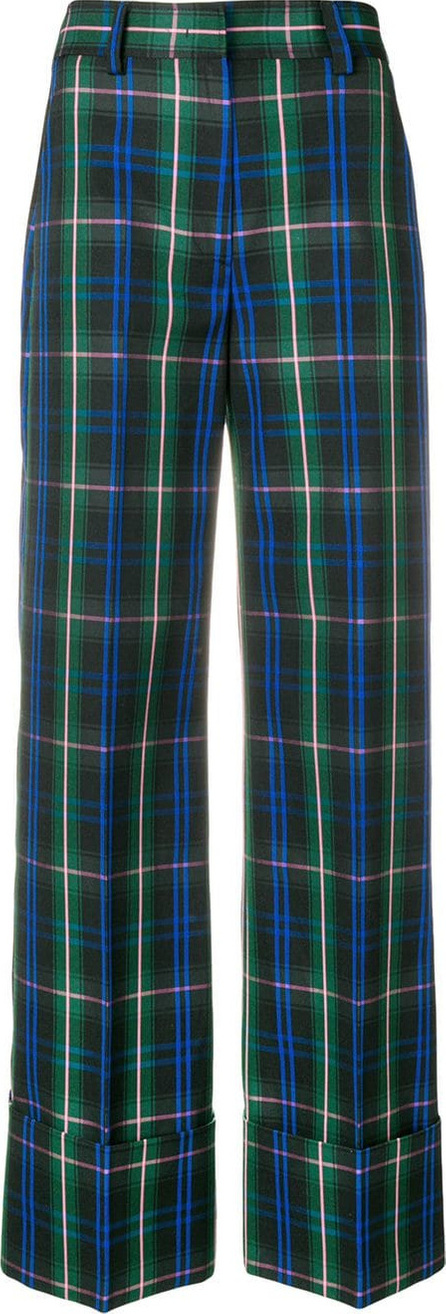 MSGM High waisted checked trousers