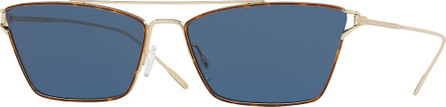 Oliver Peoples Evey Rectangle Metal Sunglasses