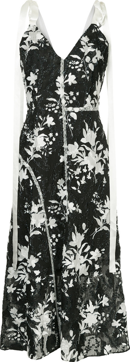 GOEN.J Fringed floral printed dress