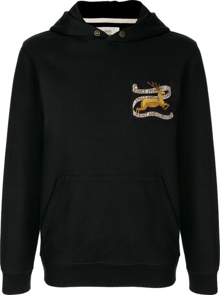 Kent and Curwen Logo-patch hoodie