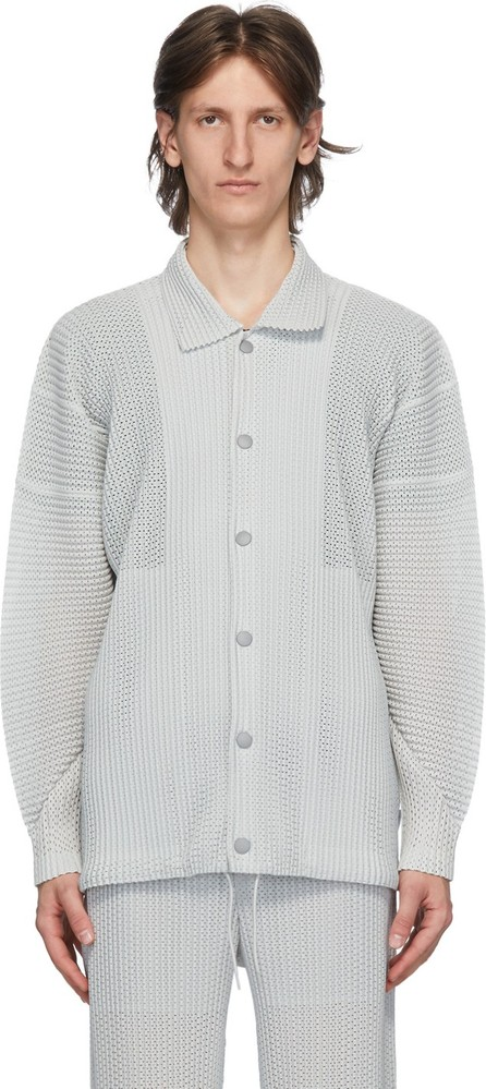Homme Plissé Issey Miyake Silver Outer Mesh Jacket