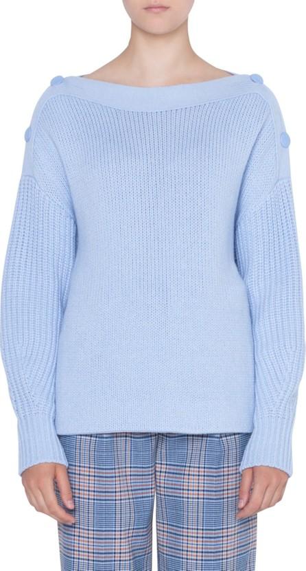 Akris Punto Button Shoulder Sweater