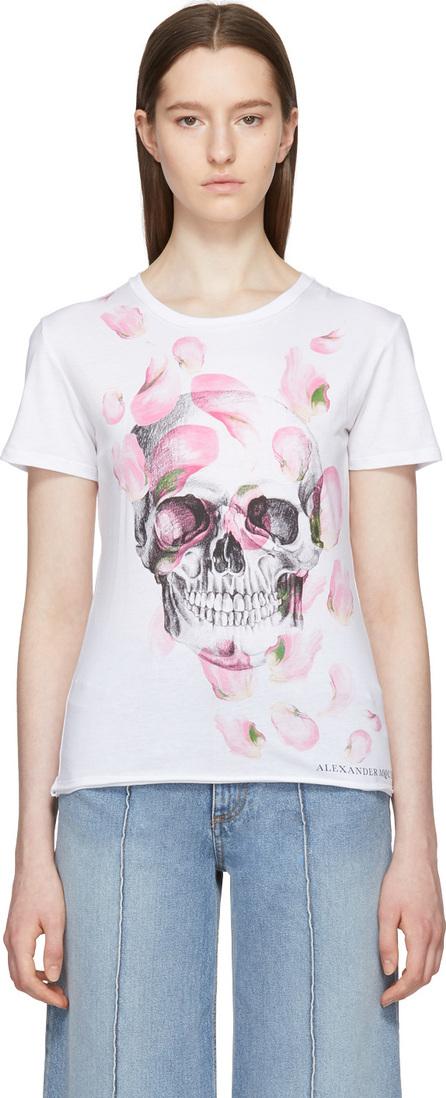 Alexander McQueen White Petal & Skull T-Shirt