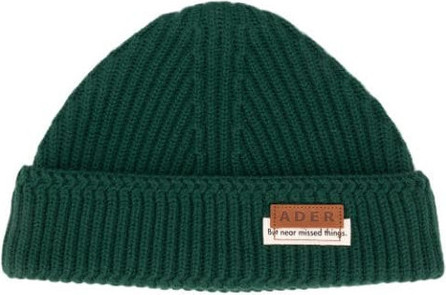 ADER error Rib-knit logo beanie
