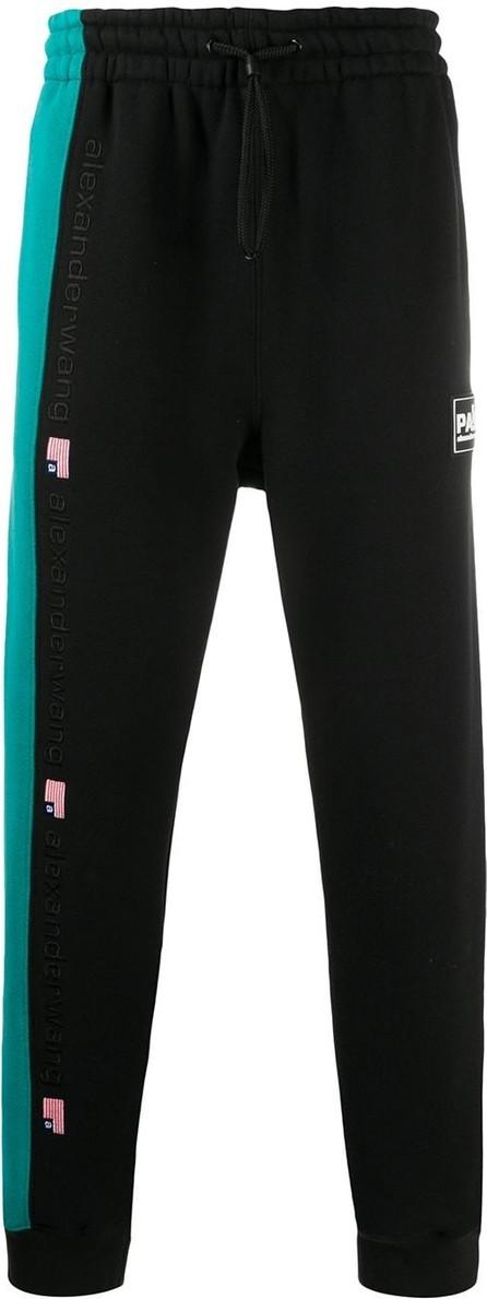 Alexander Wang Stripe detail logo track trousers