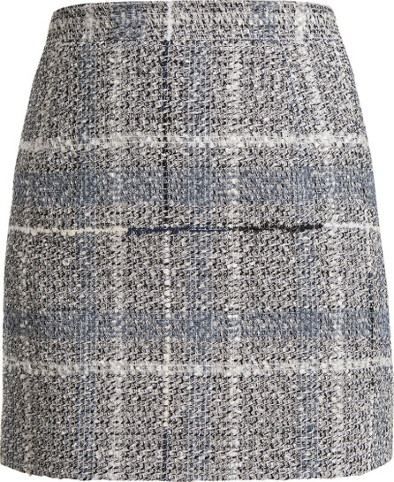 Alessandra Rich Cotton-blend tweed mini-skirt