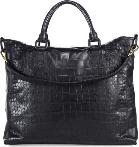 Ethan K Polished Crocodile Leather Hobo