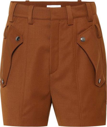 Chloe Wool twill shorts